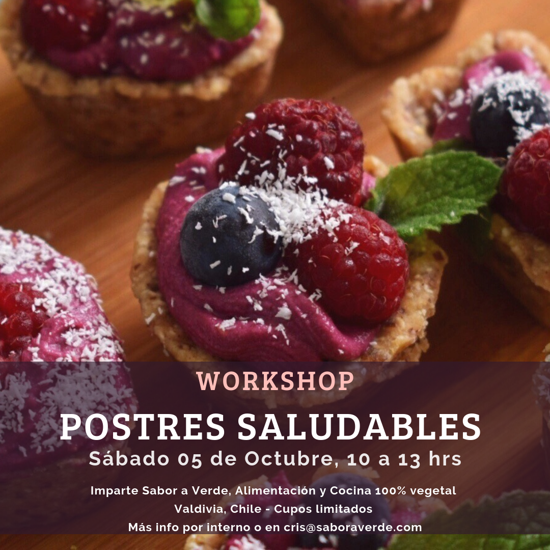Workshop Postres Saludables
